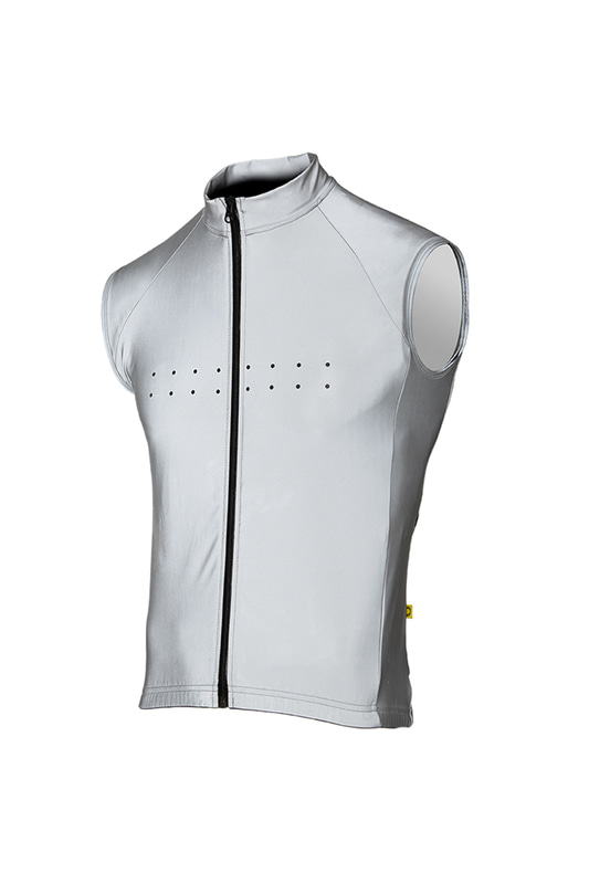 [Pedla] 페들라 Men's RideFLASH / Windcheater Gilet (Silver)