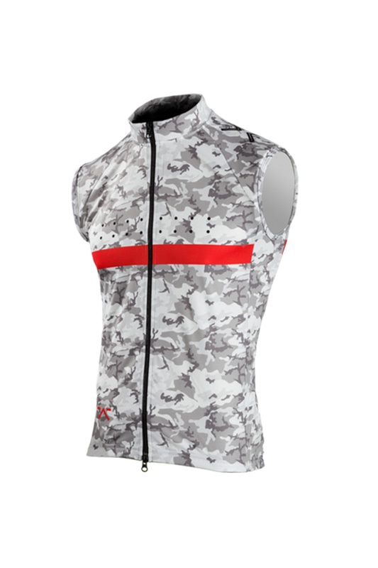 [Pedla] 페들라 Men's RideCAMO / Windcheater Gilet (White)