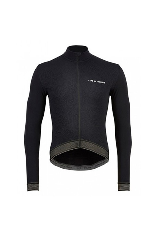 [Cafe du Cycliste] Men's Hughjet Snakeskin Cycleing Jersey - Black 휴젯 스네이크스킨 사이클링 저지 블랙