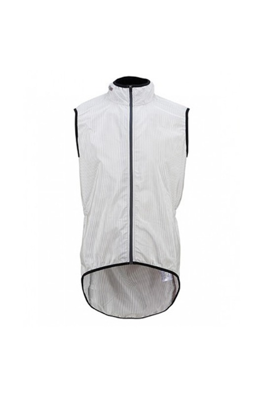 [Cafe Du Cycliste] Men's madeleine Gilet - white superlight 마들린 질렛 화이트 스트라이프