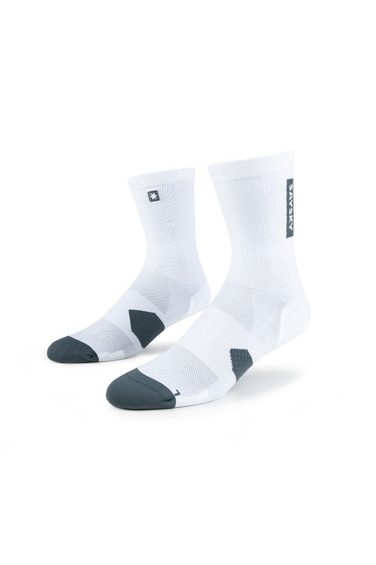 [SAYSKY] UNISEX COMBAT HIGH SOCKS WHITE 컴뱃 하이 러닝 삭스 화이트