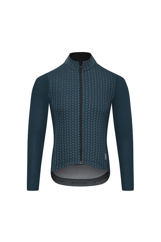 [Cafe Du Cycliste] Men's Adex Irma Cycling ls Jersey - Blue 어덱스 이르마 사이클링 LS 저지 블루