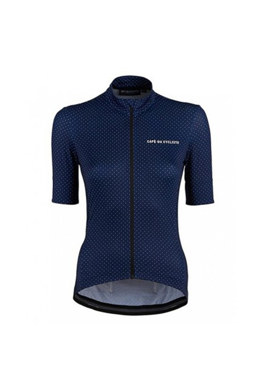 [Cafe Du Cycliste] women's fleurette jersey - navy 플로레트 저지 네이비