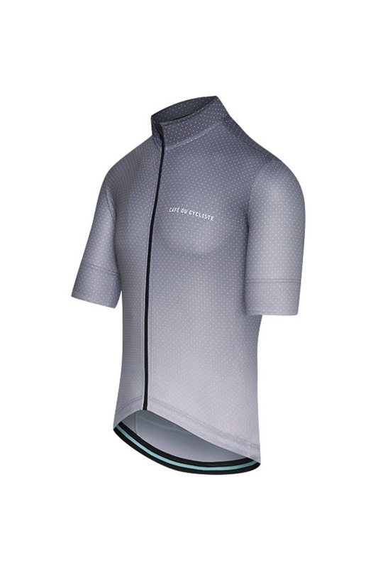 [Cafe Du Cycliste] Men's Fleruette Jersey - grey/grey 플로레트 저지 쉐이드 그레이/그레이