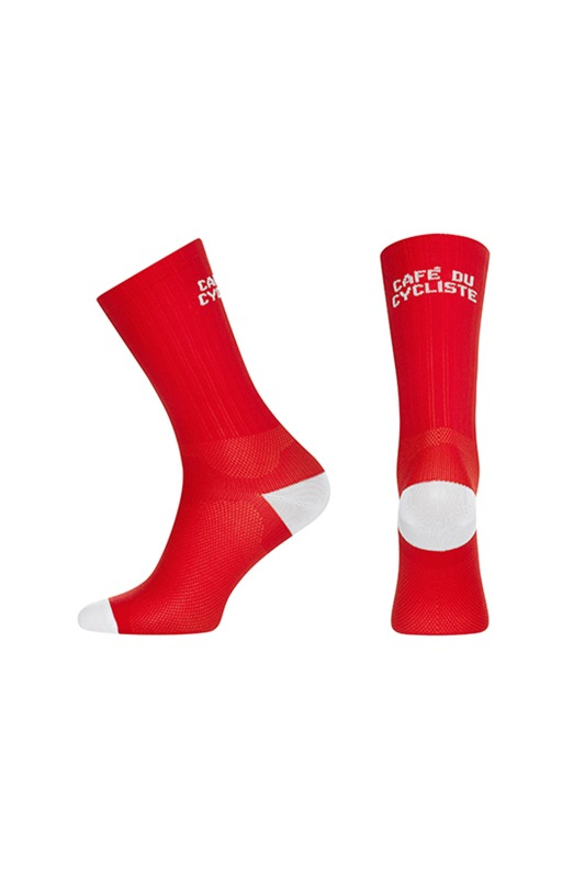 [Cafe Du Cycliste] colour socks - red  컬러 삭스 레드