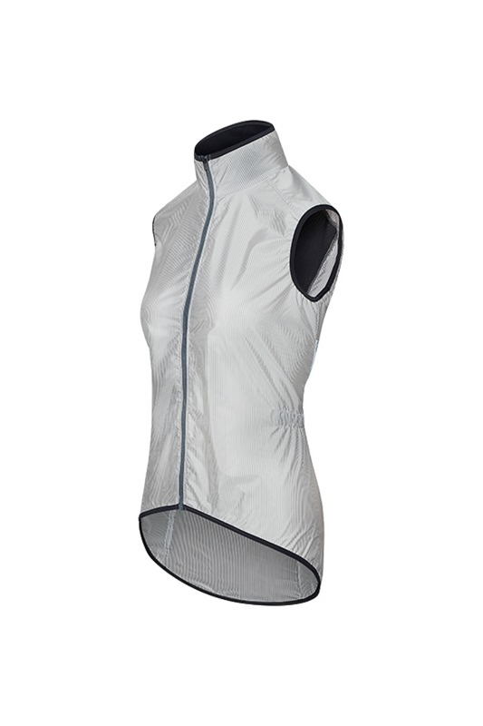 [Cafe Du Cycliste] women madeleine gilet - white/Stripe 마들렌 질렛 화이트/스트라이프