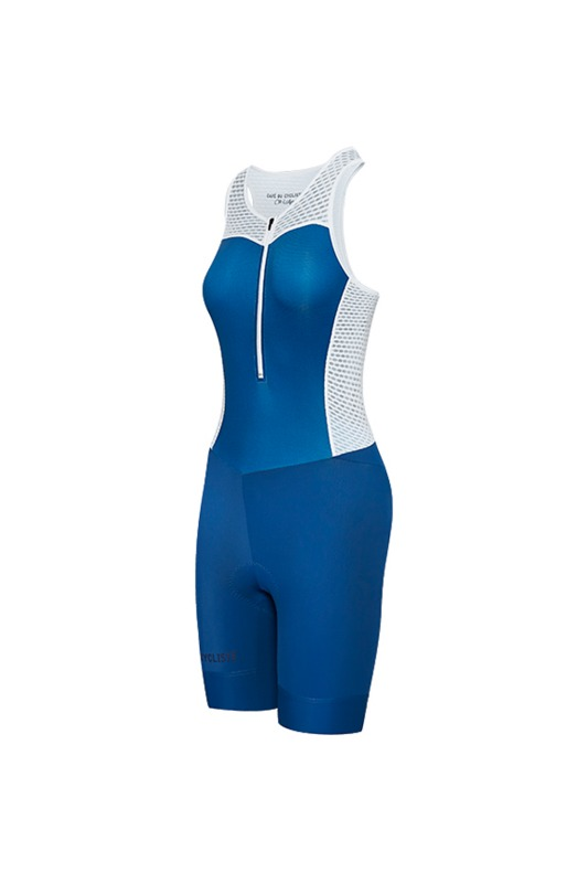 [Cafe Du Cycliste] women's marinette bib shorts royal bleu 마리네트 빕 쇼트 로얄 블루