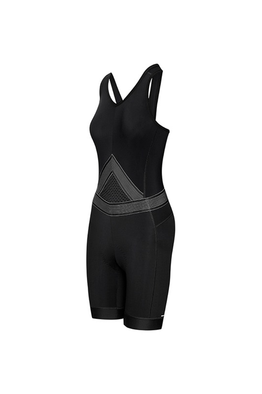 [Cafe Du Cycliste] women's  ginette bib shorts - black 지넷 빕 쇼츠 블랙