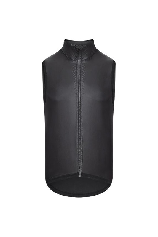 [Cafe Du Cycliste] Men's ultralight lightweight dorothee gilet - black 울트라 라이트웨이트 도로시 질레트 블랙