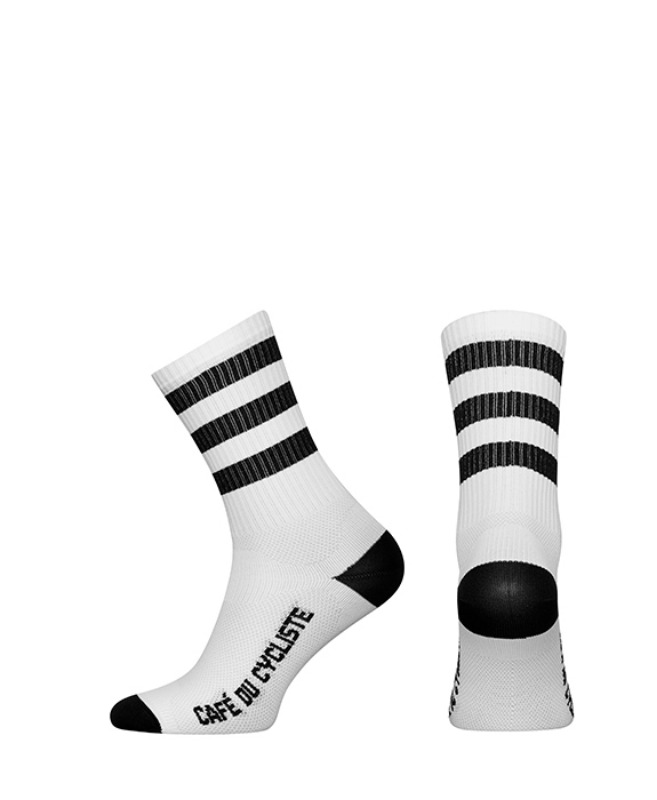 [Cafe Du Cycliste] stripes socks - black 스트라이프 삭스 블랙