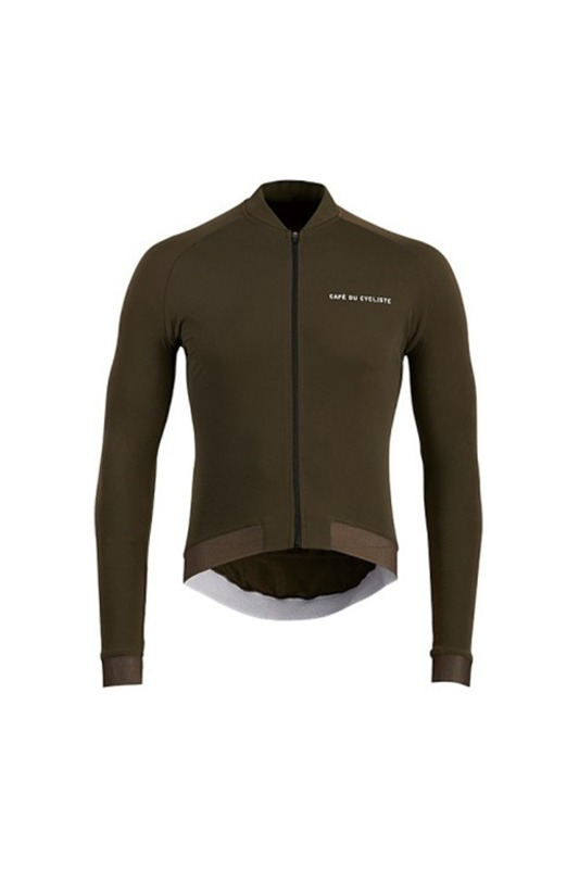[Cafe du Cycliste] Men's Daphne cycling Jersey - Khaki 다프네 사이클링 저지 카키