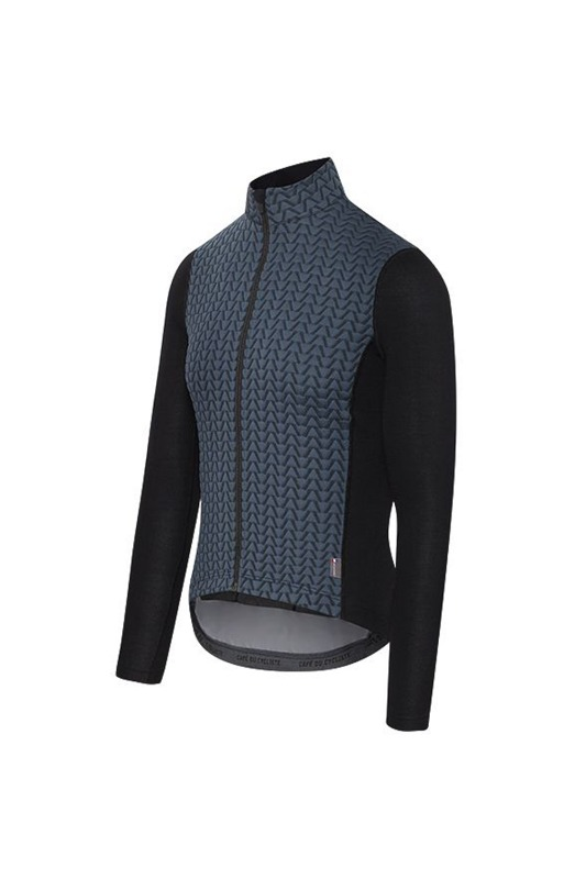 [Cafe Du Cycliste] Men's Adex Irma Cycling ls Jersey - Black 어덱스 이르마 사이클링 LS 저지 블랙