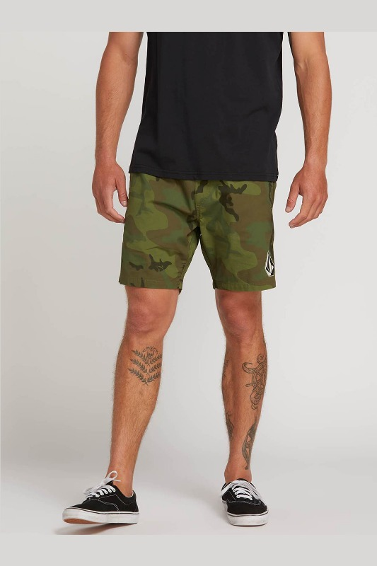 [VOLCOM] MEN'S DEADLY STONES SHORT - CAMOUFLAGE