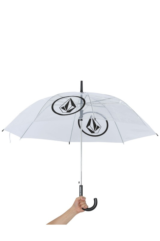 [VOLCOM]   CIRCLE STONE VOMYL UMBRELLA- Clear