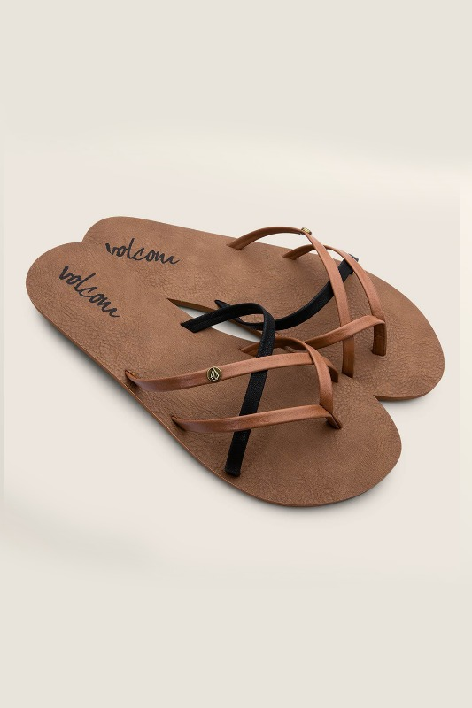 [VOLCOM] WOMEN's NEW SCHOOL SANDALS - Brown Combo
