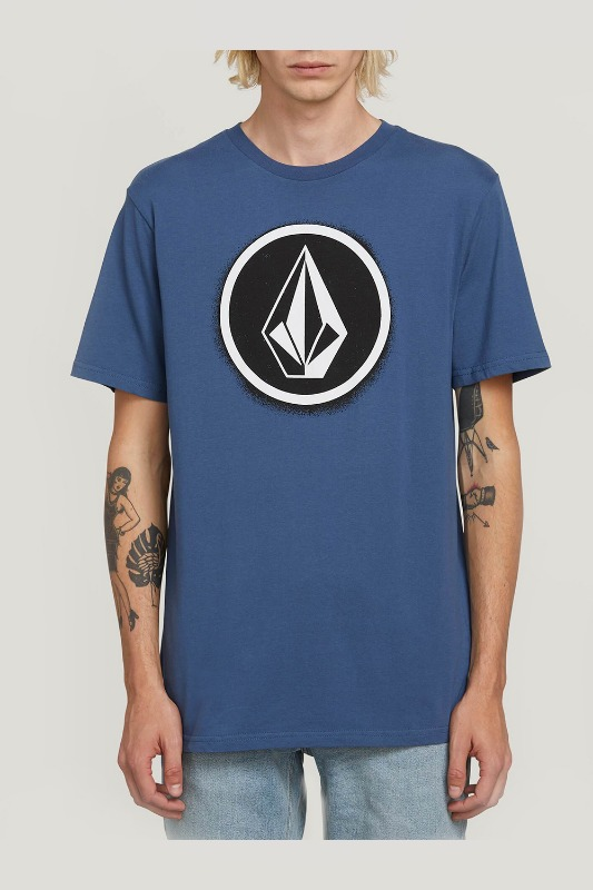 [VOLCOM] MEN'S SPRAY STONE S/S TEE - INDIGO