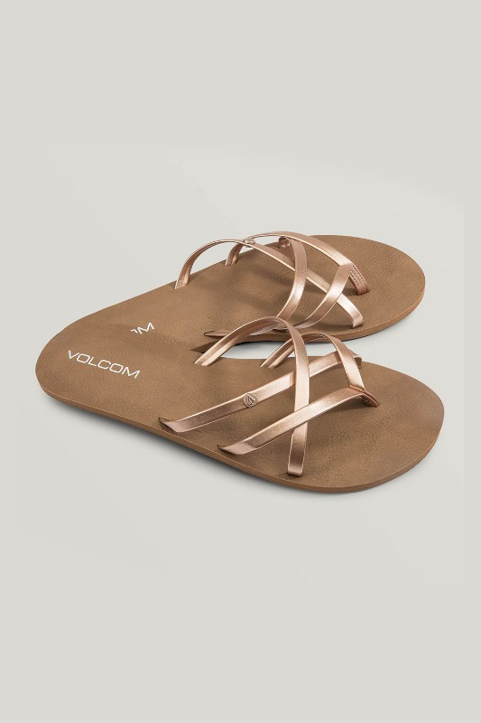 [VOLCOM] WOMEN's NEW SCHOOL SANDALS - Rose Gold