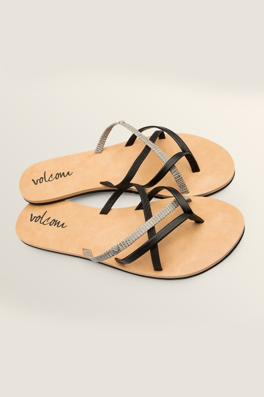 [VOLCOM] WOMEN's NEW SCHOOL SANDALS - Black Combo