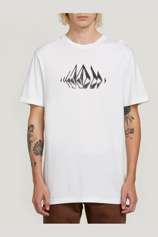 [VOLCOM] MEN'S STONE SOUNDS S/S TEE - WHITE