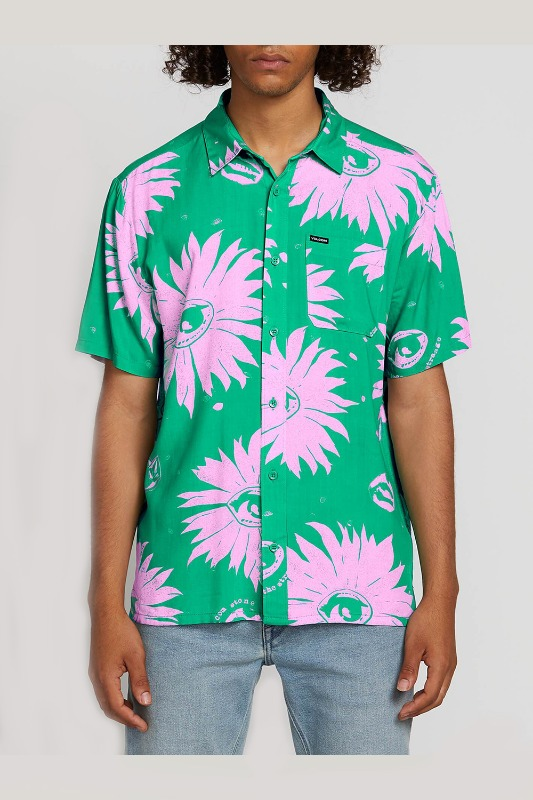 [VOLCOM] Men's MAG SKTCH S/S  - Winter Green