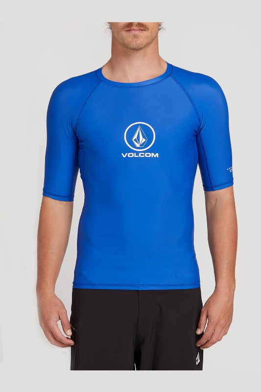 [VOLCOM] MEN'S LIDO SOLID  S/S  RASHGUARD - ROYAL