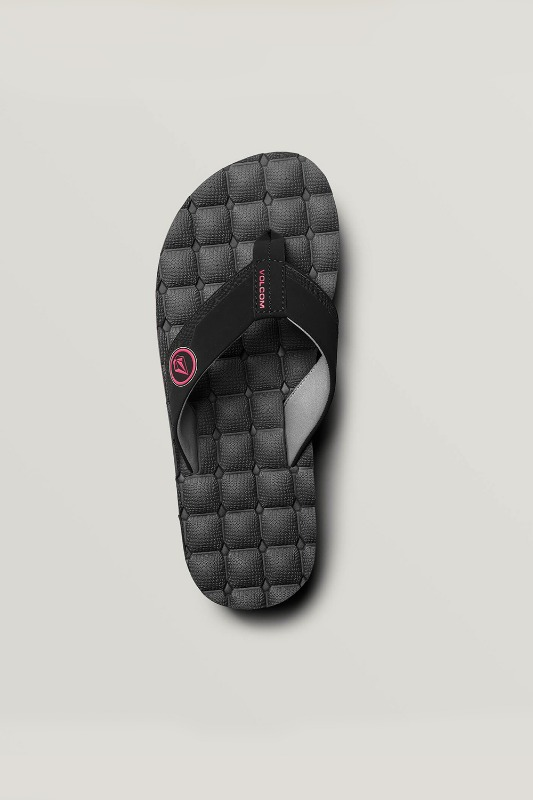 [VOLCOM] Men's RECLINER SANDALS - Graphite