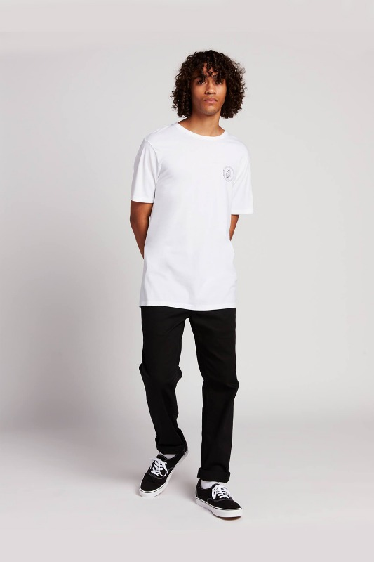 [VOLCOM] MEN'S THE GARDEN JONES S/S TEE - WHITE