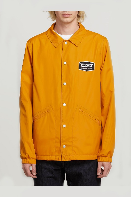 [VOLCOM] MEN'S BREWS COACH JACKET - KAMEL