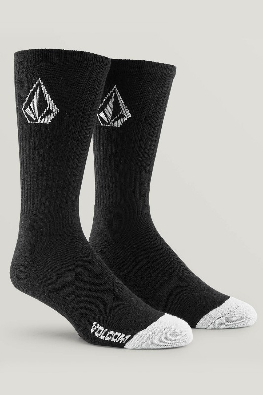 [VOLCOM] Men's FULL STONE SOCK 3PACK  - Black