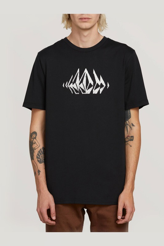 [VOLCOM] MEN'S STONE SOUNDS S/S TEE - BLACK
