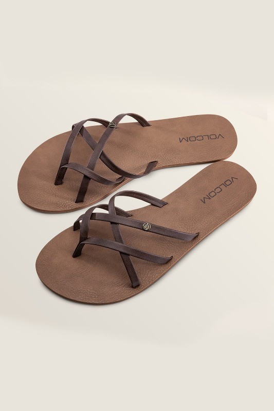 [VOLCOM] WOMEN's NEW SCHOOL SANDALS - Brown
