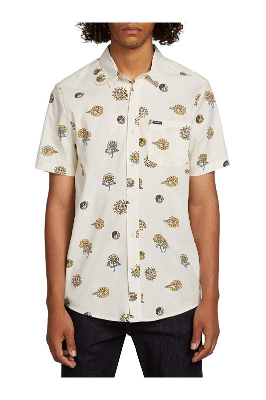 [VOLCOM] Men's PEACE STONES S/S SHIRT   - White Flash
