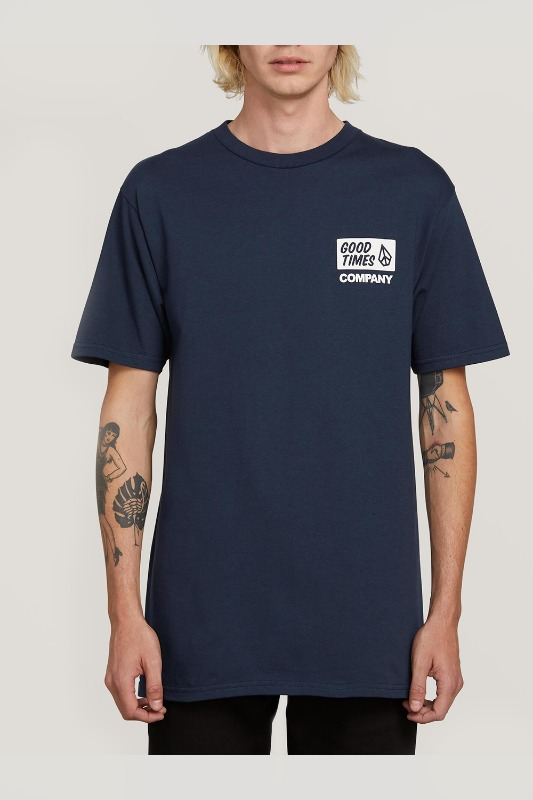 [VOLCOM] MEN'S VOLCOM IS GOOD S/S TEE - NAVY