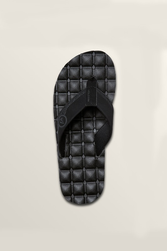 [VOLCOM] Men's RECLINER SANDALS - Black Destruto