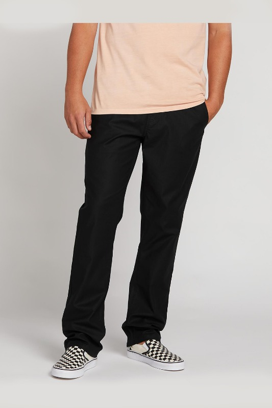 [VOLCOM] Men's RISER COMFORT CHINO PANTS  - Black