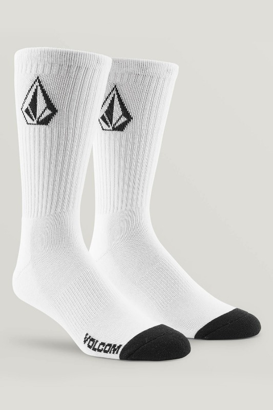 [VOLCOM] Men's FULL STONE SOCK 3PACK  - White