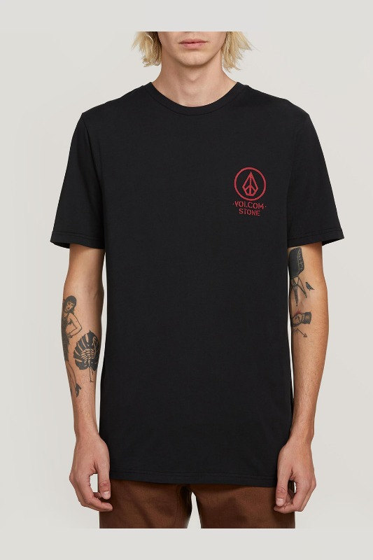 [VOLCOM] MEN'S CROWD CONTROL S/S TEE - BLACK