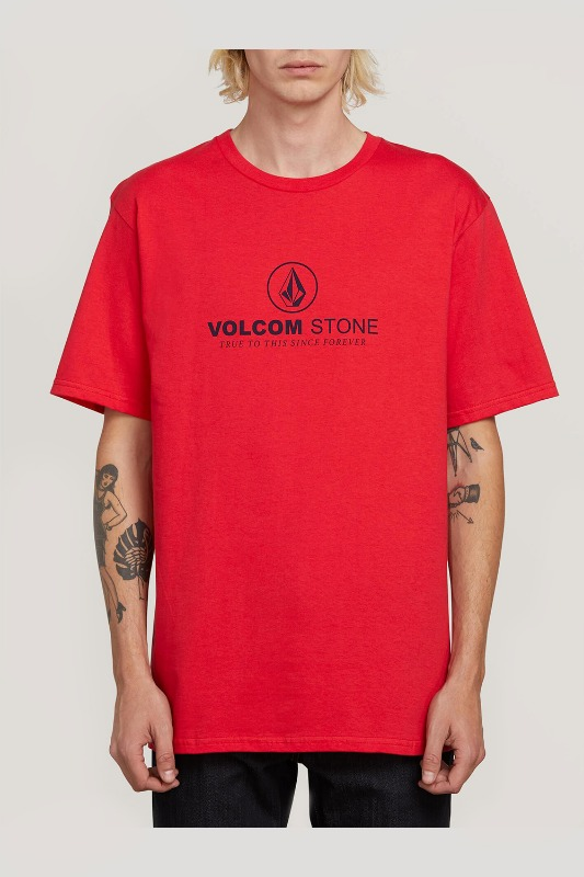 [VOLCOM] MEN'S SUPER CLEAN S/S TEE - TRUE RED