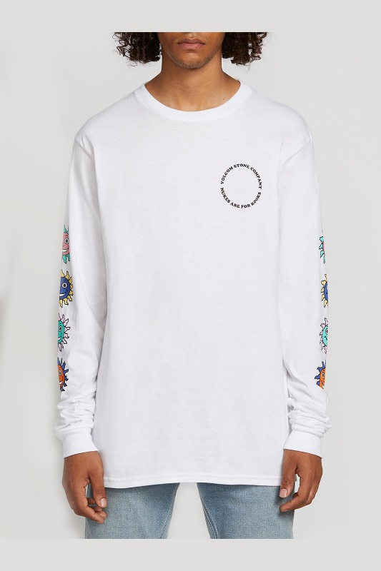 [VOLCOM] Men's KOOK GANG L/S TEE  - White