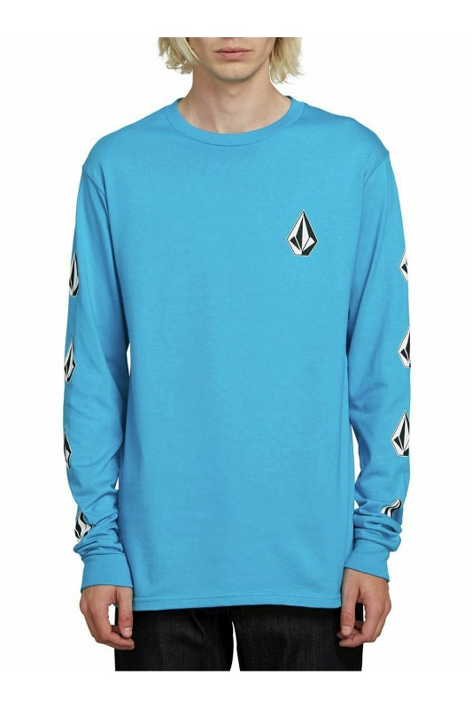 [VOLCOM] MEN'S DEADLY STONES L/S TEE - BRIGHT BLUE