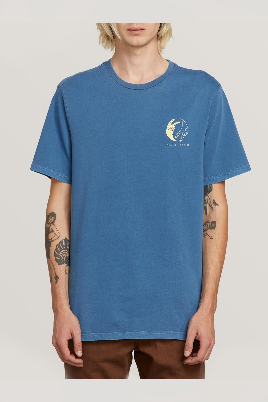 [VOLCOM] MEN'S PEACE OFF  S/S TEE - INDIGO