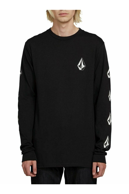 [VOLCOM] MEN'S DEADLY STONES L/S TEE - BLACK