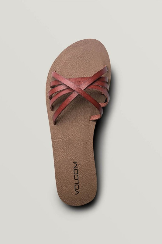 [VOLCOM] WOMEN's SUNDAZE SANDALS - Dark Clay