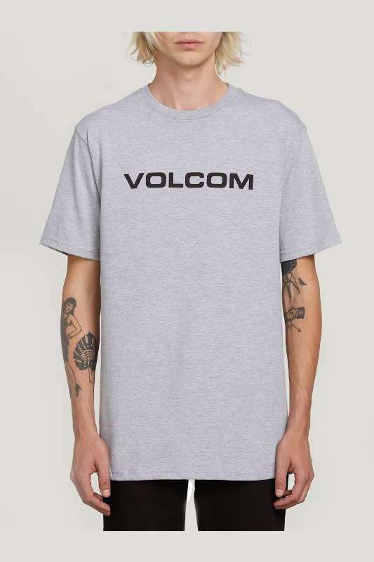 [VOLCOM] MEN'S CRISP EURO S/S TEE - HEATHER GRAY