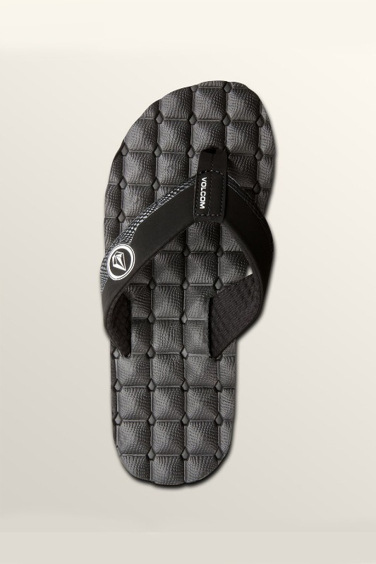 [VOLCOM] Men's RECLINER SANDALS - Black White