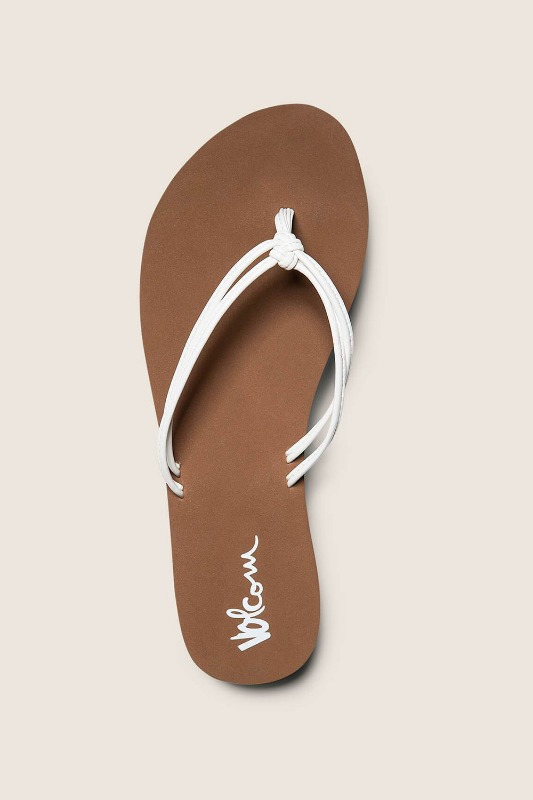 [VOLCOM] WOMEN's FOREVER AND EVER SANDALS -White
