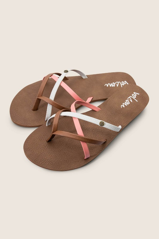 [VOLCOM] WOMEN's NEW SCHOOL SANDALS - Coral