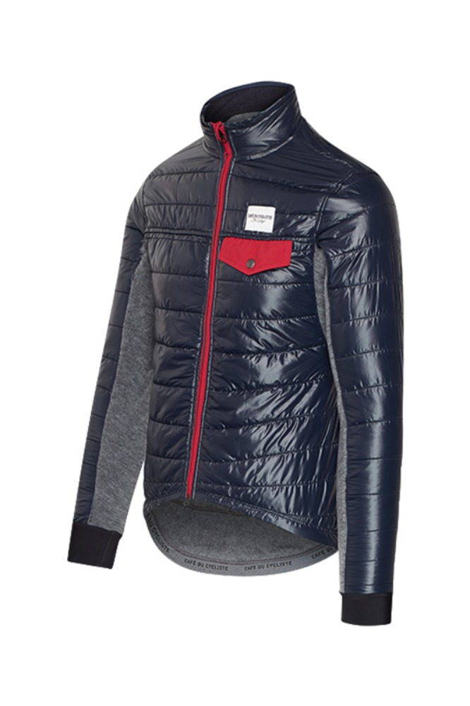 [Cafe Du Cycliste] Men's Albertine Down Padded Jacket -  Navy 알버틴 다운 패드 자켓 네이비