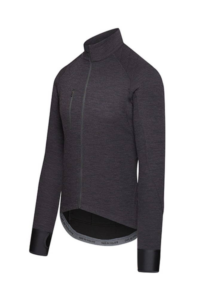 [Cafe Du Cycliste] Men's Yolande Signature Long Sleeve Jersey Super-Black 욜란데 시그니쳐 롱슬리브 져지 슈퍼블랙