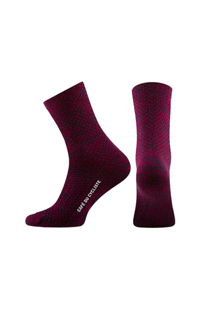[Cafe Du Cycliste] Socks Texture Red- Navy 삭스 텍스쳐 레드-네이비